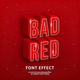 Odważny nowoczesny tytuł silna gra z efektem czerwonego tekstu 3d