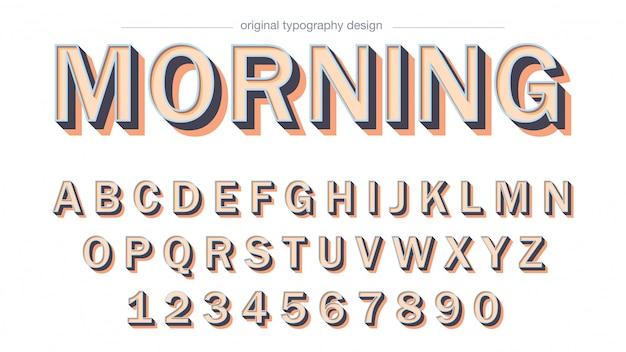 Odważny projekt typografii cienia