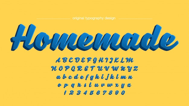 Odważny projekt typografii odręcznej 3d