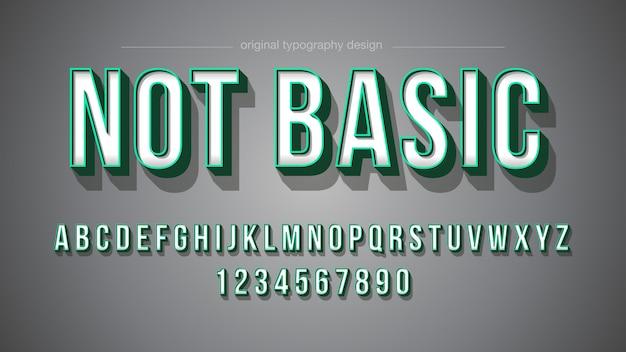 """Odważny projekt typografii """"zielony skok"""""""