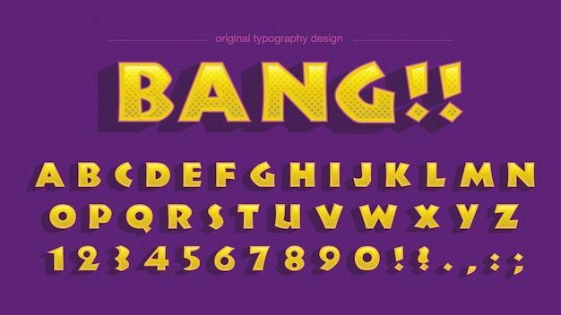 Odważny żółty typografia kreskówka