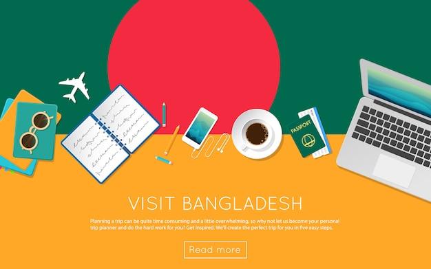 Odwiedź koncepcję bangladeszu, aby uzyskać swój baner internetowy