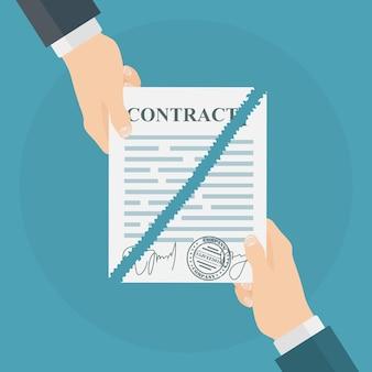Odwołanie ilustracji umowy