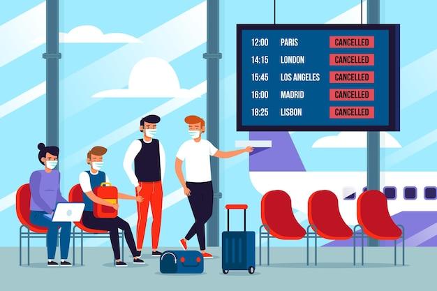 Odwołany lot z pasażerami