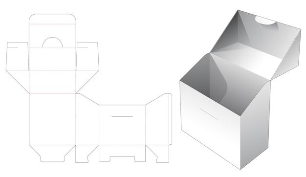 Odwróć pudełko i szablon wycinany z zamkniętym punktem