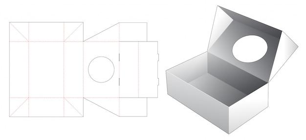 Odwróć pudełko z wykrojnikiem w kształcie koła