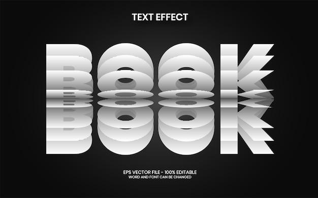 Odwróć styl efektu tekstu edytowalny motyw papieru z efektem tekstu