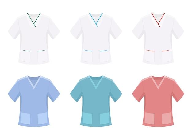 Odzież medyczna wektor projekt ilustracja na białym tle
