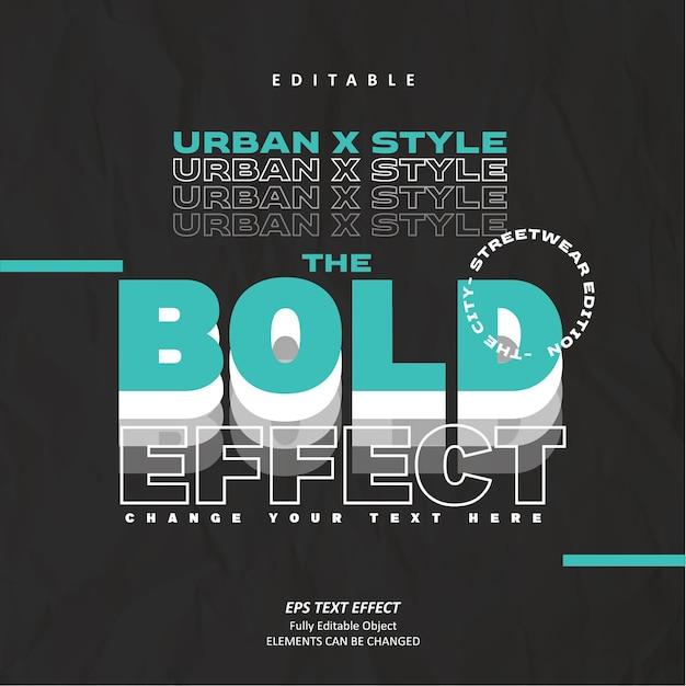 Odzież street fashion efekt tekstowy edytowalny wektor premium