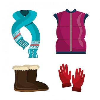 Odzież zimowa, ubrania i akcesoria