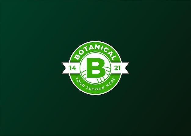 Odznaka botaniczna z pierwszą literą b.
