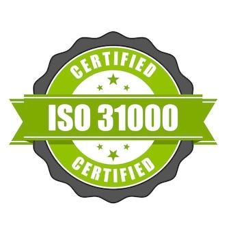 Odznaka certyfikatu iso - zarządzanie ryzykiem