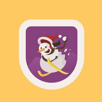Odznaka christmas snowman