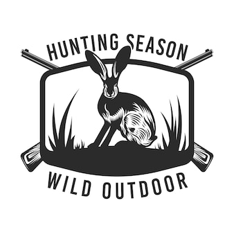 Odznaka dzikiego polowania królika