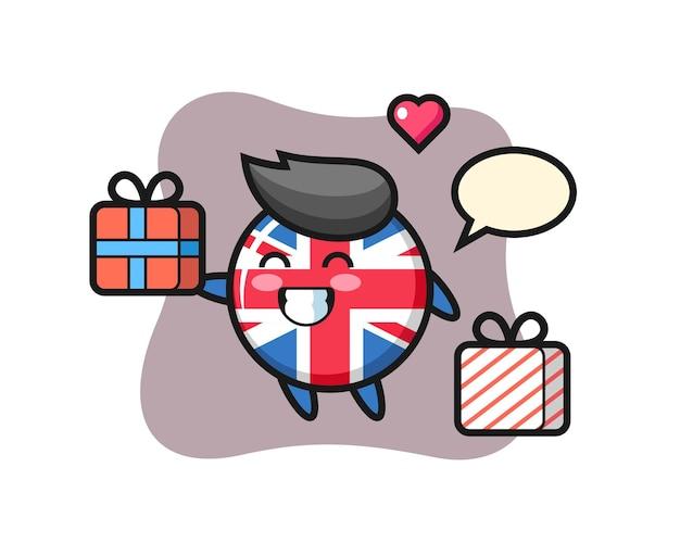 Odznaka flagi wielkiej brytanii, ładny styl na koszulkę, naklejkę, element logo