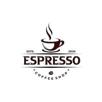 Odznaka kawiarni w stylu vintage