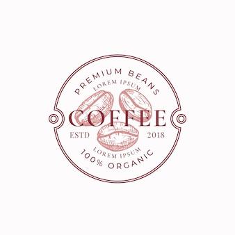 Odznaka kawy lub szablon logo.