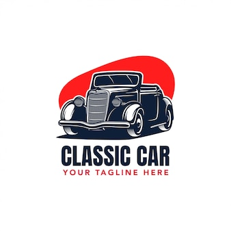 Odznaka klasycznego samochodu hot rod