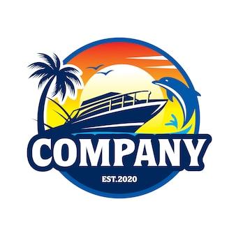 Odznaka łodzi i delfina