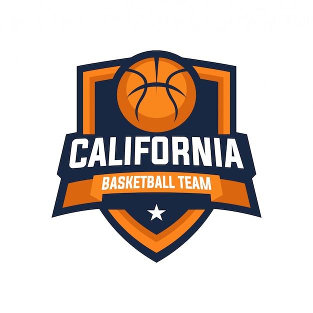 Odznaka logo drużyny koszykówki w kalifornii