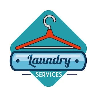 Odznaka logo pralni pralni
