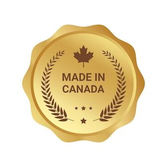 Odznaka logo wektor made in kanada