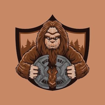 Odznaka logo wielkiej stopy