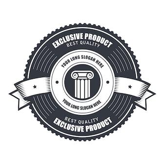 Odznaka lub szablon emblematów dla znaku produktu, godła lub usługi