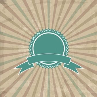 Odznaka na tle sunburst