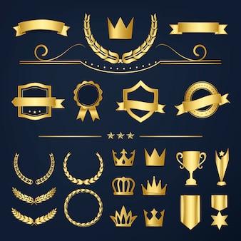 Odznaka najwyższej jakości i kolekcja banerów