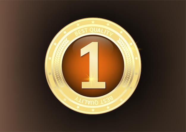 Odznaka najwyższej jakości ze złota.