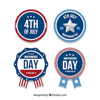 Odznaka odznaki dzień niepodległości usa