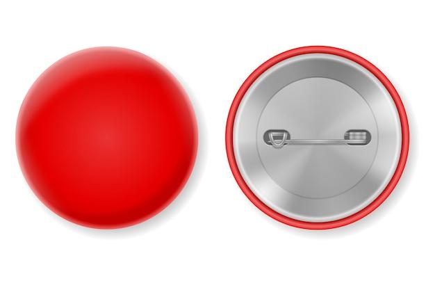 Odznaka pin pusty szablon na białym tle