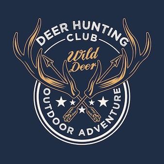 Odznaka polowania na dziki róg jelenia