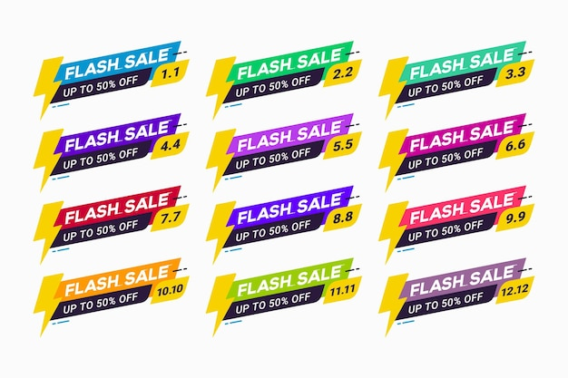 Odznaka promocyjna tagu z emblematem sprzedaży flash