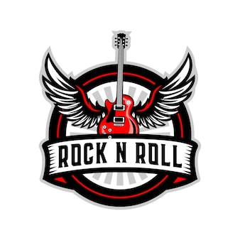 Odznaka rock n 'roll na gitarze