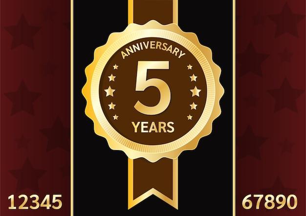 Odznaka rocznicowa złota