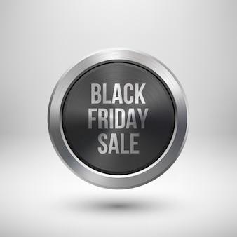 Odznaka sprzedaży metallic black fiday