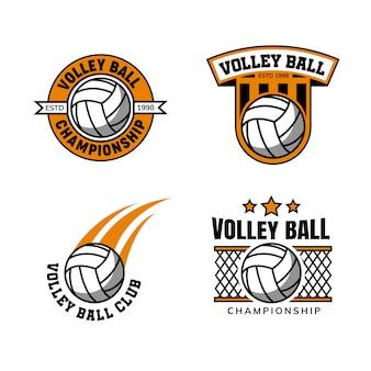 Odznaka szablon logo piłka do siatkówki