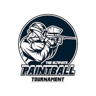 Odznaka szablon logo turnieju paintball