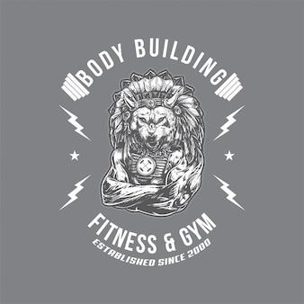Odznaka szefa wolf gym
