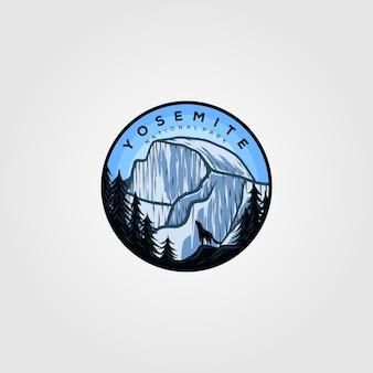 Odznaka vintage logo yosemite