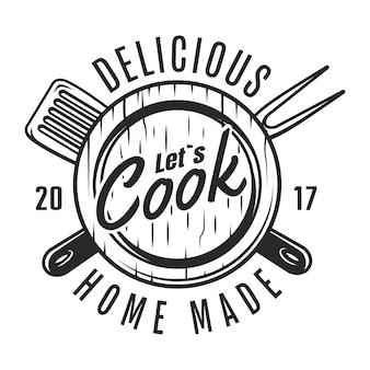 Odznaka vintage narzędzia kuchenne