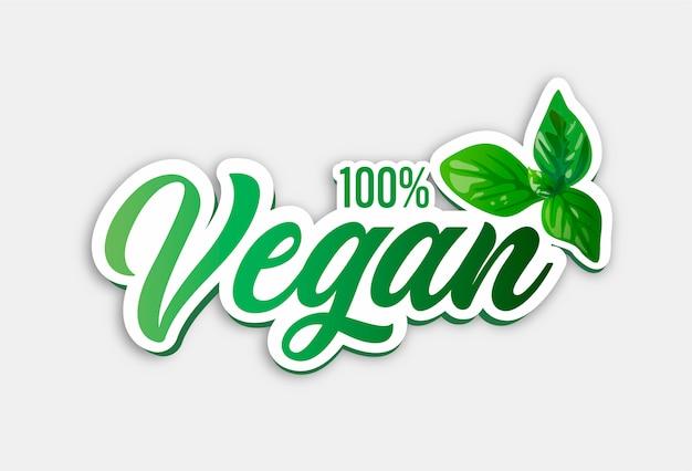 Odznaka w 100% wegańska
