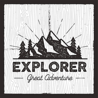Odznaka wanderlust camping.