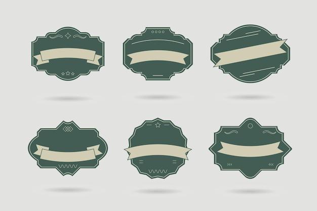 Odznaka wektor, etykiety i wstążki