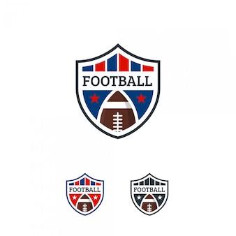 Odznaka z logo futbolu amerykańskiego