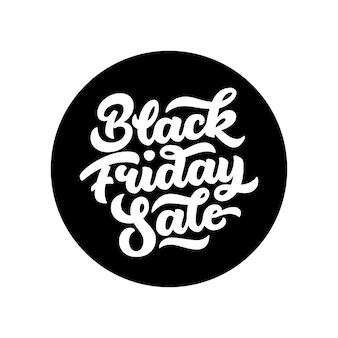 Odznaka z napisem sprzedaż w czarny piątek