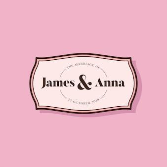 Odznaka zaproszenie na ślub w stylu klasycznym
