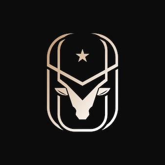 Odznaka zwierzęca głowa jelenia poroża